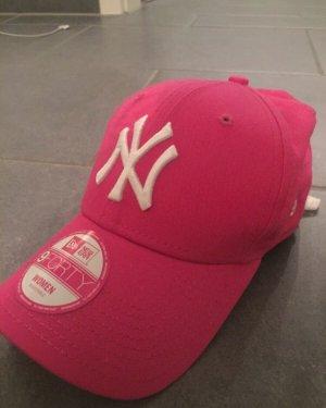 New Era Casquette de baseball rouge framboise-blanc