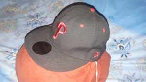 New Era Casquette de baseball noir-rouge carmin
