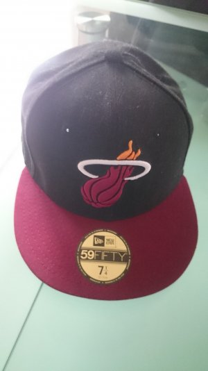 New Era Kappe Cap Basecap Basketball Miami Heat Snapback Hat