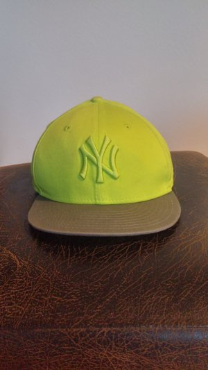New Era Baseball Cap light grey-lime yellow