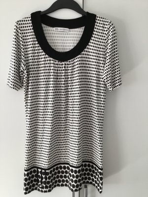 Long Shirt white-black viscose
