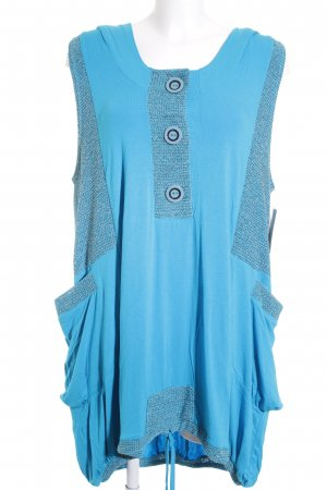 New Jersey T-shirt jurk turkoois-korenblauw Beach-look