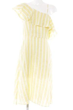 New Look A-Linien Kleid blassgelb-hellgelb Streifenmuster Beach-Look