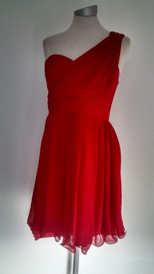 New Look Abendkleid rot Chiffon Gr. UK 16 EUR 44  Cocktailkleid Minikleid