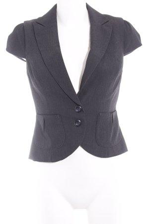 New Look Waistcoat black-dark grey pinstripe business style