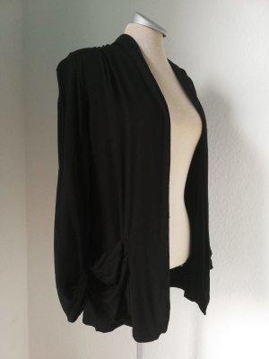 New Look Blazer Cardigan schwarz Sommer leicht casual Gr. UK 10 38 S M Viscose