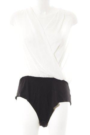 New Look Blusen-Body schwarz-weiß Business-Look