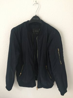 New Look Bomber Jacket dark blue polyester