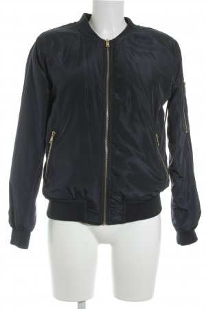 New Look Bomberjacke goldfarben-dunkelblau Street-Fashion-Look