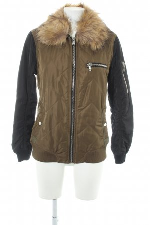 New Look Bomber Jacket black-olive green boyfriend style