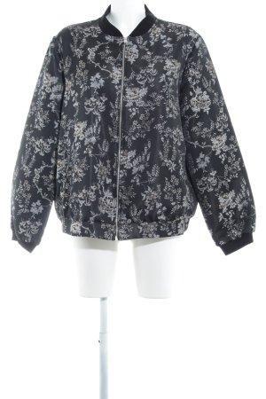 New Look Chaqueta bomber negro-blanco puro estampado floral look casual
