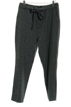 New Look Pantalone a pieghe nero-grigio chiaro spina di pesce