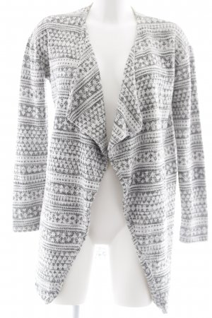New Look Cardigan weiß-schwarz Webmuster Casual-Look