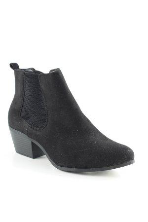 New Look Chelsea Boots schwarz Biker-Look