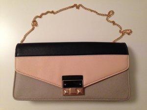 New Look Clutch beige rosa schwarz