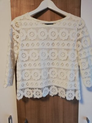 New Look Lace Top white-oatmeal