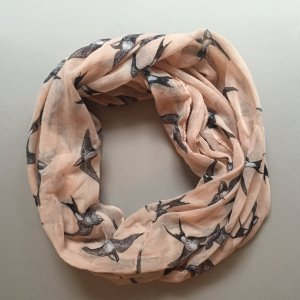 New Look Tube Scarf pink-silver-colored