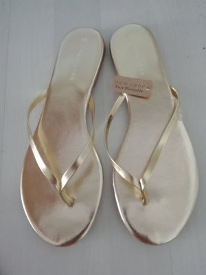 New Look Dianette Sandale Sandalen Sandalette gold Metallic Leder
