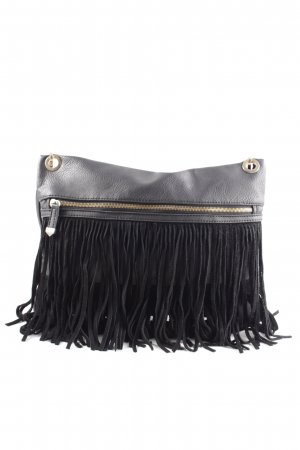 New Look Fringed Bag black business style
