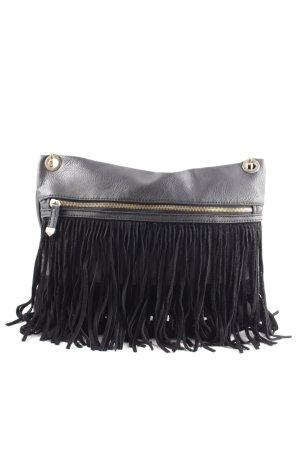 New Look Bolso de flecos negro estilo «business»