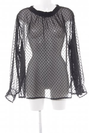 New Look Hemd-Bluse schwarz Punktemuster Elegant