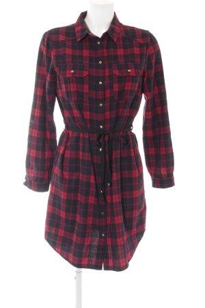 New Look Shirtwaist dress black-dark red check pattern casual look