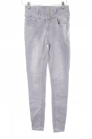 New Look Pantalon taille haute gris clair style décontracté