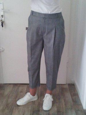 New Look Pantalón de cintura alta color plata tejido mezclado
