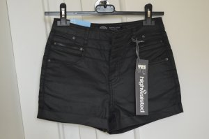 New Look High Waist Shorts in Leder-Optik