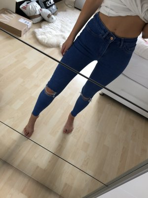 New Look Hoge taille jeans blauw