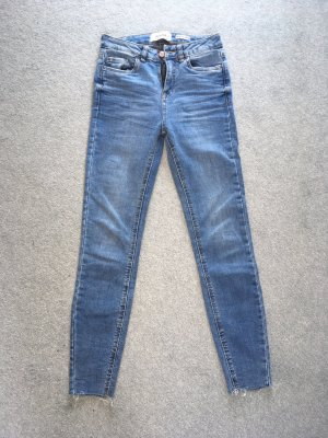 New Look Jeans taille haute bleu