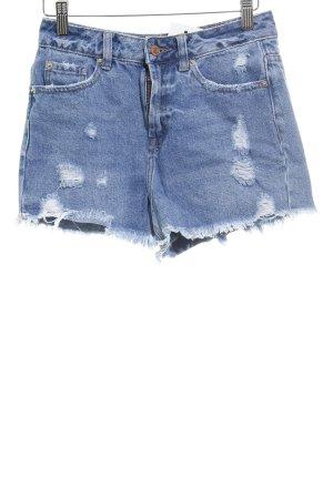 New Look Jeansshorts blau Used-Optik