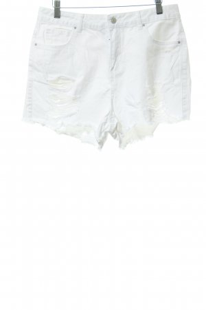 New Look Jeansshorts weiß Casual-Look