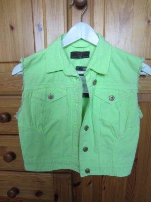 New Look Jeansweste grün 38 NEU