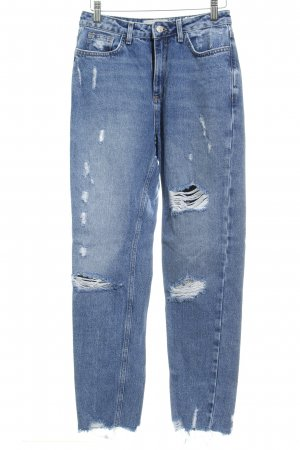New Look Carrot Jeans blue distressed style