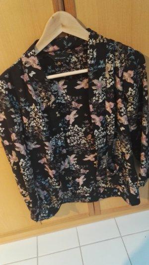 new look kimono/blazer in schwarz, rose.