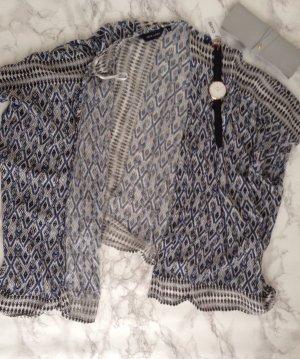 NEW LOOK Kimono Cape Cardigan Azteken Blau Schwarz Hippie Boho