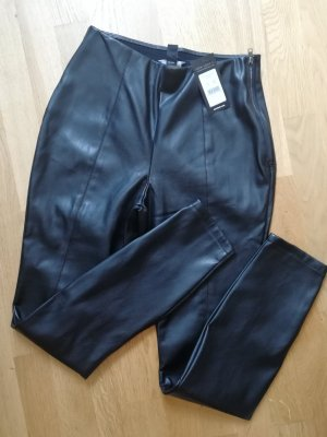 New Look Leather Trousers black