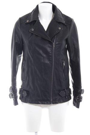 New Look Kunstlederjacke schwarz sportlicher Stil