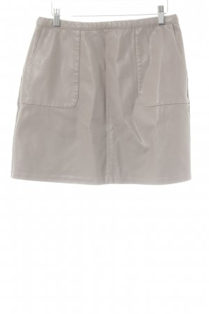 New Look Falda de cuero de imitación marrón grisáceo look Street-Style