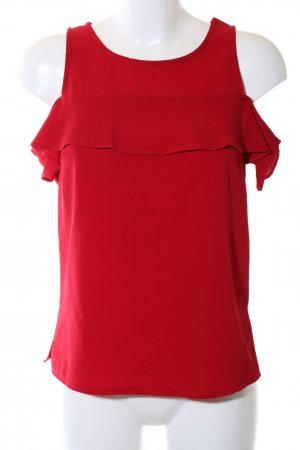 New Look Kurzarm-Bluse rot Business-Look