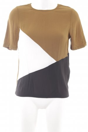 New Look Kurzarm-Bluse abstraktes Muster Casual-Look
