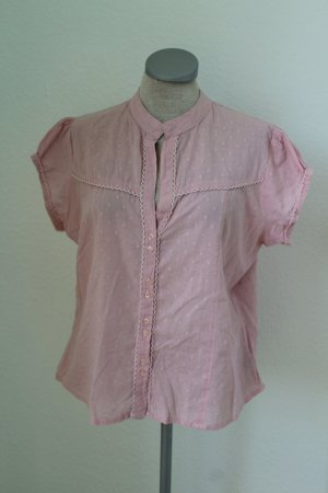New Look kurzarm Bluse rosa Baumwolle Gr. 42 UK 14 M L