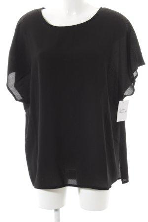 New Look Kurzarm-Bluse schwarz Elegant