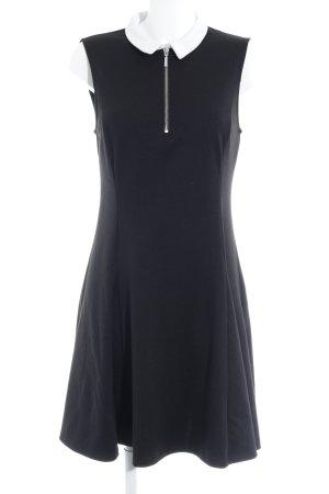 New Look Kurzarmkleid schwarz-wollweiß Elegant
