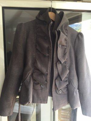 New Look Short Coat light grey-grey