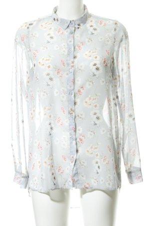 New Look Langarm-Bluse Blumenmuster Transparenz-Optik