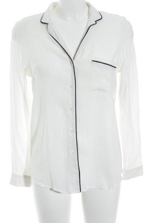 New Look Langarmhemd wollweiß schlichter Stil