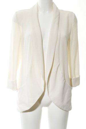 New Look Veste longue blanc cassé style d'affaires