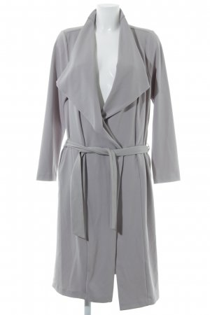 New Look Veste longue gris clair style d'affaires